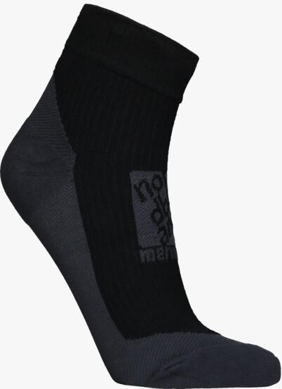 Černé kompresní merino ponožky REFUGE