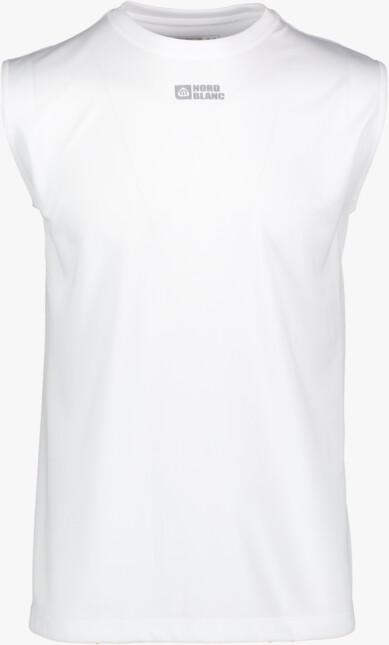 Biele pánske funkčné fitness tielko JISK - NBSMF3620