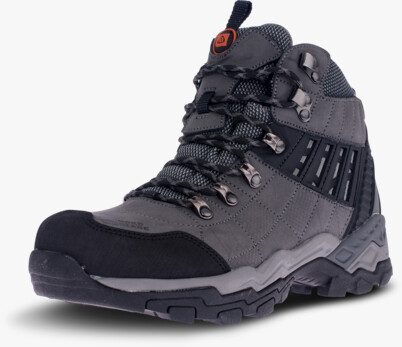 Šedé pánské outdoorové kožené boty EARTH - NBHC86