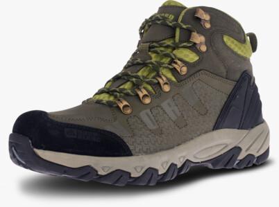Khaki pánské kožené outdoorové boty RUGGED - NBHC87