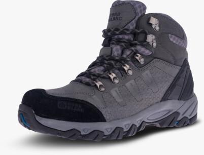 Šedé pánské kožené outdoorové boty RUGGED - NBHC87
