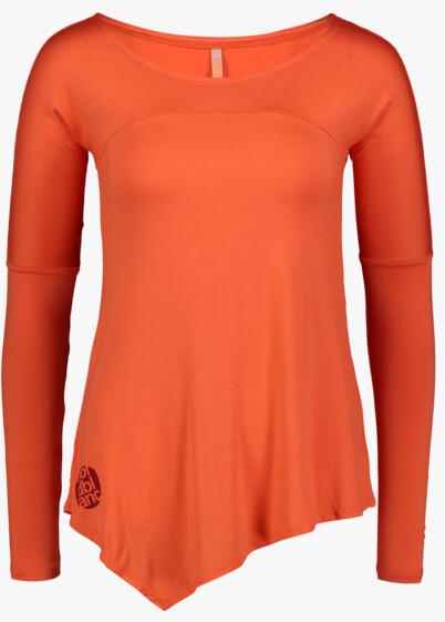 Narancssárga női póló jógára LAPPET