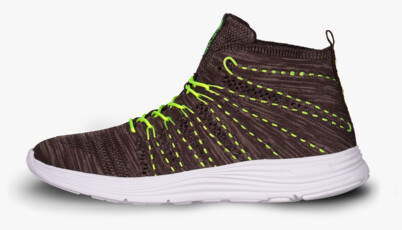 Green sports shoes BRAZEN