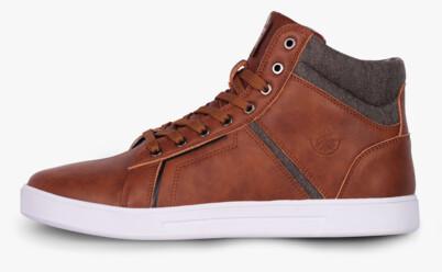 Hnedé pánske kožené topánky GAZE - NBHC6875