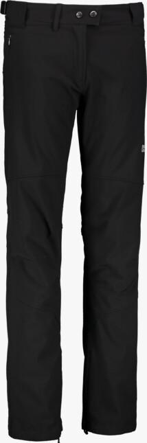 Černé dámské zateplené softshellové kalhoty LEONI