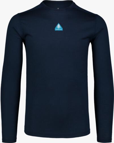 Modré pánské termo MERINO triko SOLACE - NBWFM6870