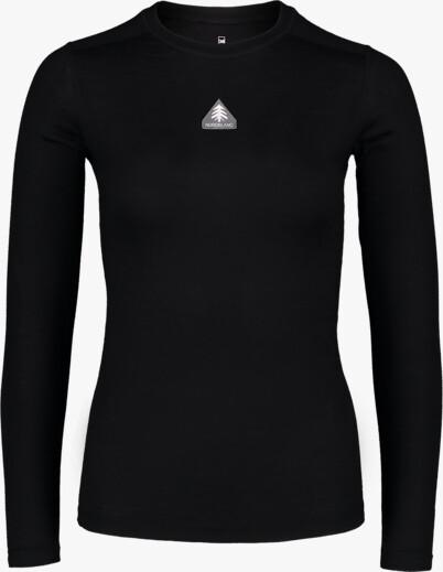 Fekete női termikus merino póló UNION