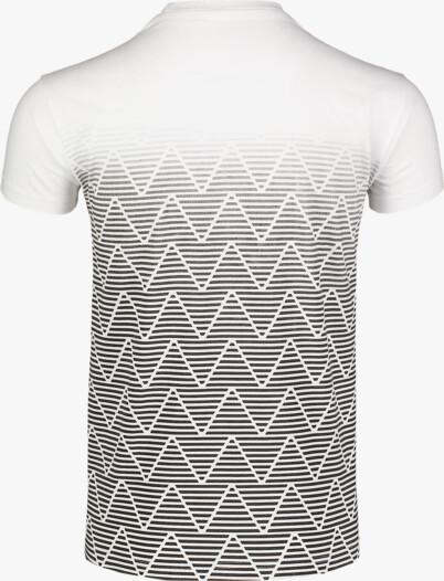Bílé pánské bavlněné tričko CRIMP - NBFMT7051