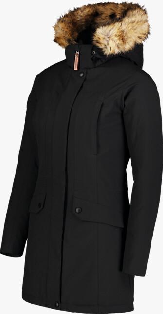 Černý dámský zimní kabát PROFUSE
