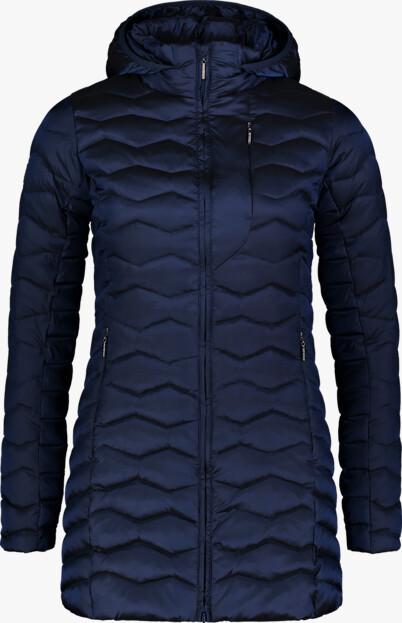 Modrý dámský zimní kabát SHRIVEL