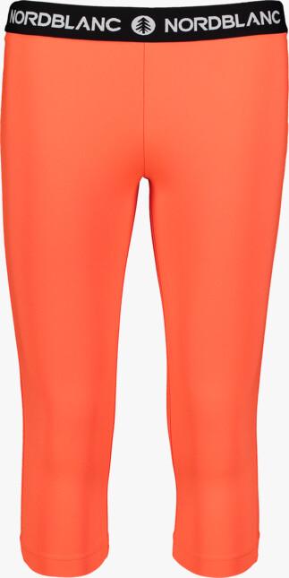 Oranžové dámské 3/4 fitness legíny TENUITY - NBSPL7185