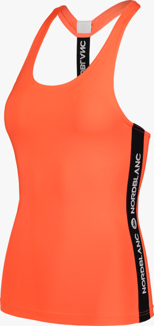 Oranžové dámské fitness tílko FLANK - NBSLF7194