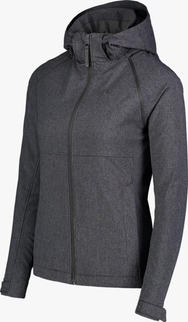 Jachetă ușoară gri softshell 2 în 1 pentru femei DISPENSE - NBSSL7176