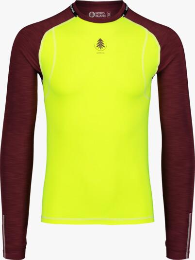 Men's yellow baselayer light t-shirt SPIFFY - NBBMU7090