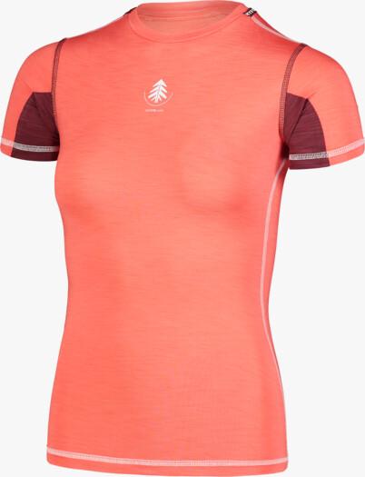 Women's red baselayer light t-shirt PLANT - NBBLU7100