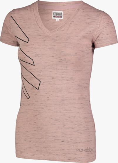 Růžové dámské bavlněné tričko CONIFER - NBSLT7242