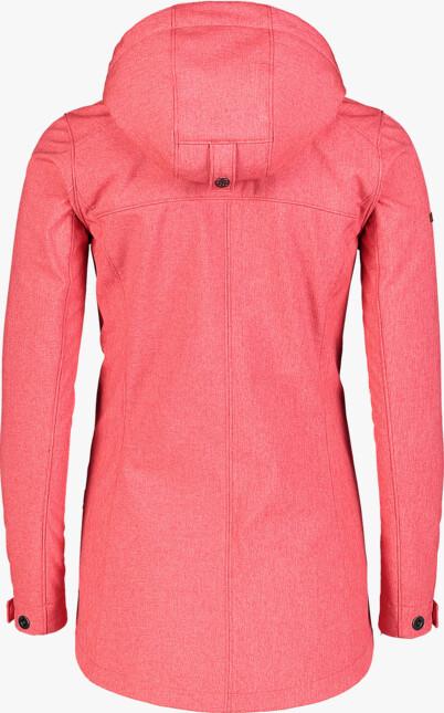 Women's red softshell parka with fleeceLIGHTEN - NBWSL7175