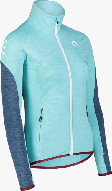 Women's blue power fleece jacket ADROID - NBWFL7364