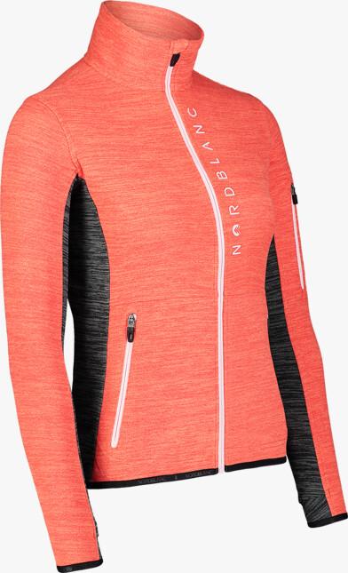 Hanorac roșu din fleece pentru femei SAVANT - NBWFL7365