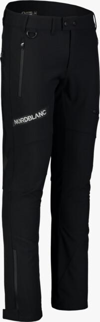 Čierne pánske zateplené softshellové nohavice STERN - NBFPM7367