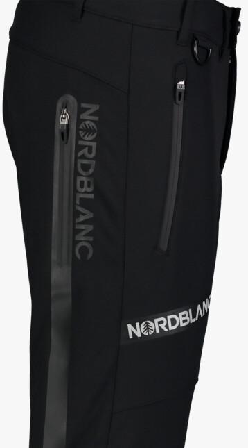 Men's black softshell pants with fleece STERN - NBFPM7367