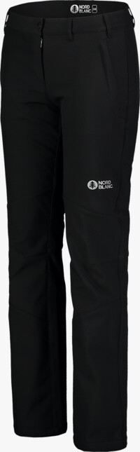 Čierne dámske zateplené softshellové nohavice SUSS - NBFPL7370