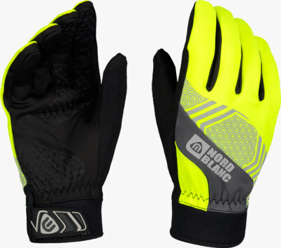 Yellow softshell gloves POINETR