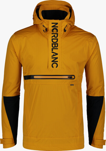 Men's yellow anorak QUEST - NBSJM7373