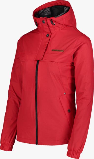 Červená dámská lehká jarní bunda INLUX
