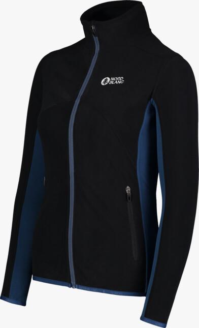 Women's black light fleece jacket MIST