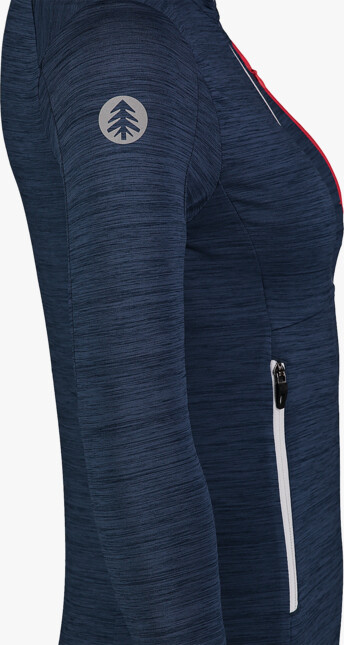 Women's blue power fleece jacket ACME