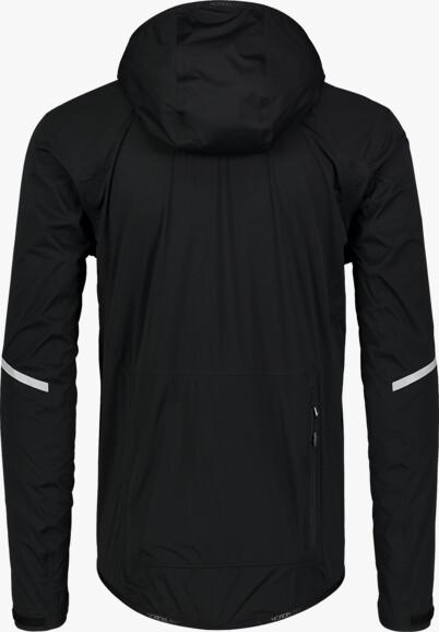 Fekete férfi vízálló ultrakönnyű kerékpáros dzeki/kabát MECHANISM