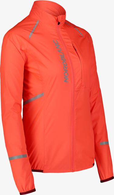 Narancssárga női ultrakönnyű kerékpáros dzeki/kabát BARRIER
