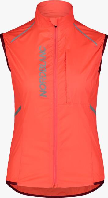 Narancssárga női ultrakönnyű kerékpáros mellény ROAMER