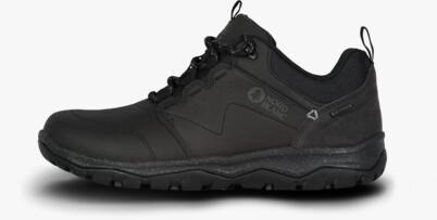 Fekete női outdoor bőr cipő DONA