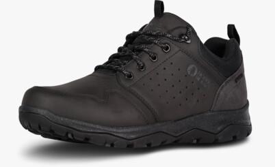 Čierne pánske kožené outdoorové topánky PRIMO