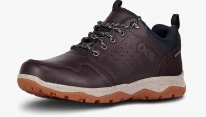 Hnědé pánské kožené outdoorové boty PRIMO