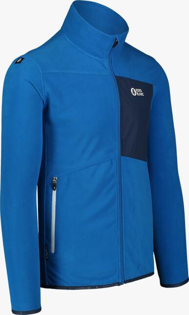Men's blue light fleece jacket MOONRISE