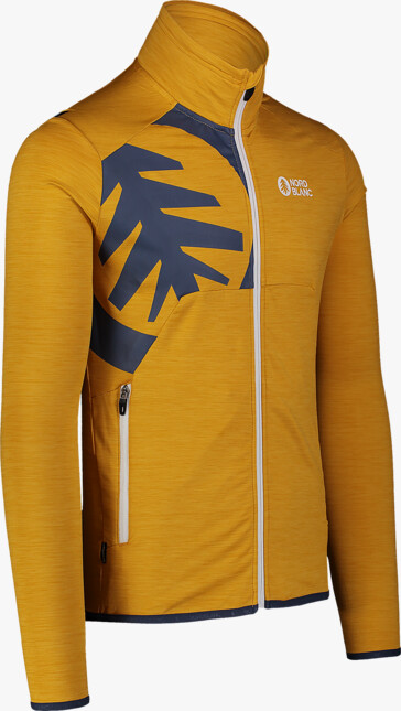 Men's yellow power fleece jacket RING - NBSFM7379