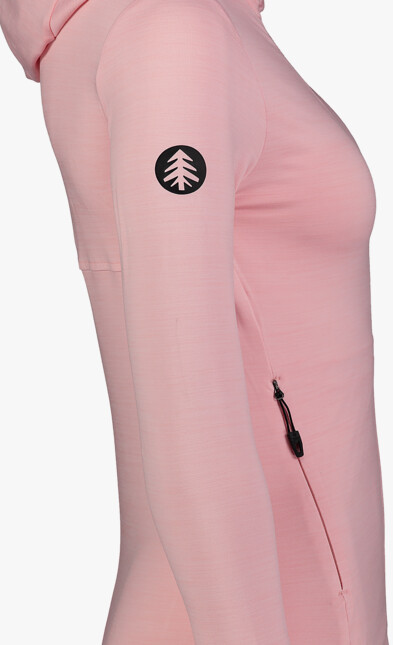 Ružová dámska powerfleecová mikina NOISY - NBSFL7382