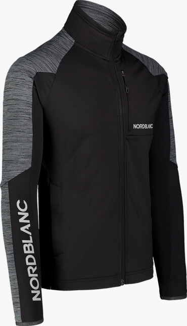 """Hanorac din fleece negru cu tehnologia """"Power Fleece"""" pentru bărbați CAMPSHIRE - NBSFM7378"""