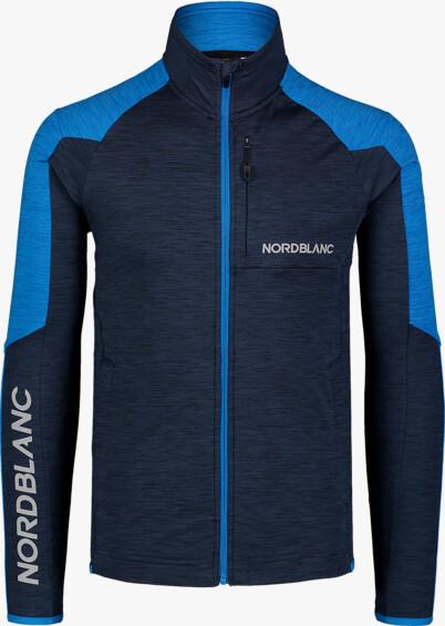 Men's blue power fleece jacket CAMPSHIRE