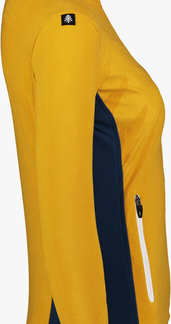 Žltá dámska ľahká fleecová mikina MIST