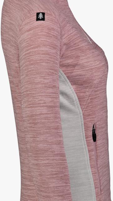 Ružová dámska ľahká fleecová mikina MIST