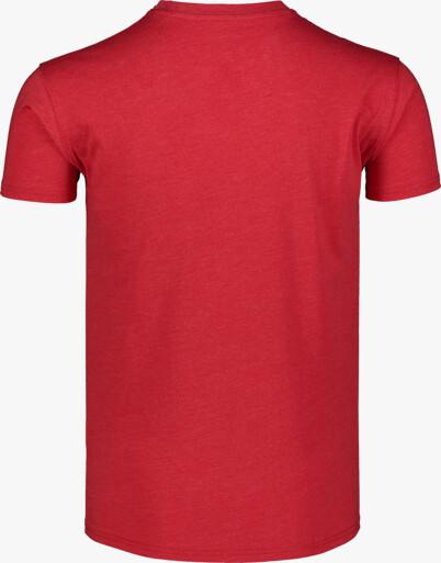 Piros férfi pamut póló WALLON