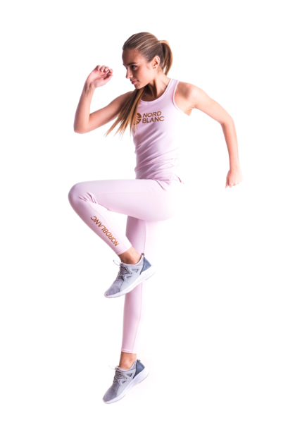 Rózsaszín női fitness trikó BALM