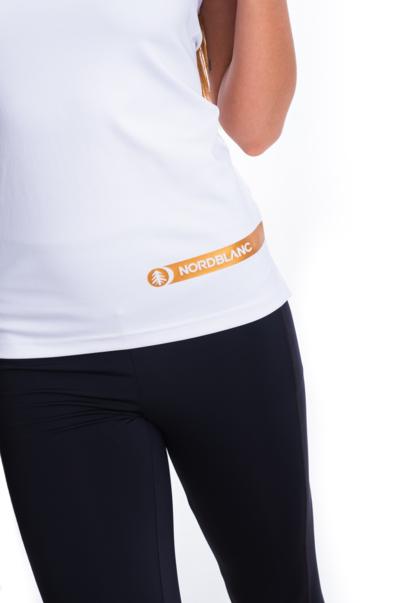 Fehér női fitness trikó STRAPPY