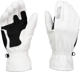 Bílé fleecové rukavice GOFU - NBWG3348