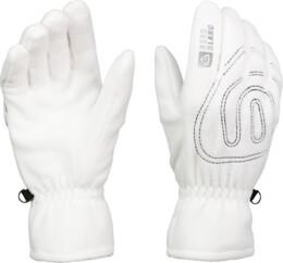 Bílé fleecové rukavice GERRY - NBWG3349