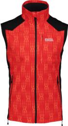 Červená pánská lehká softshellová vesta VESTR - NBSSM2290B
